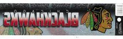 """CHICAGO BLACKHAWKS  OFFICIAL BLING AND GLITTER 11`"""" X 3""""  DE"""