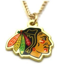 chicago blackhawks pendant necklace nhl