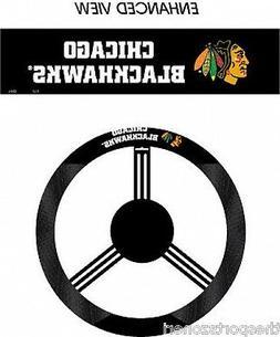 Chicago Blackhawks Poly/Mesh Steering Wheel Cover