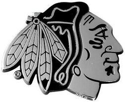 Chicago Blackhawks Premium Solid Metal Chrome Auto Emblem Ra
