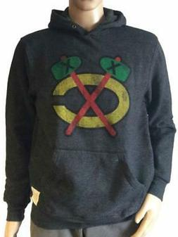 chicago blackhawks retro brand gray pullover sweatshirt