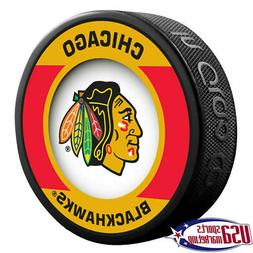 Chicago Blackhawks Retro Style Souvenir Hockey Puck By Sher-