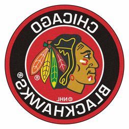 "Chicago Blackhawks 27"" Roundel Area Rug Floor Mat"