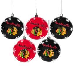 Chicago Blackhawks Shatterproof BALLS Christmas Tree Holiday