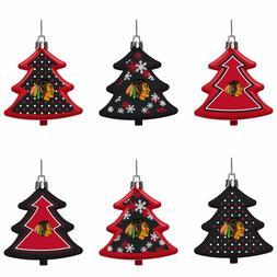 Chicago Blackhawks Shatterproof TREES Holiday Christmas Tree