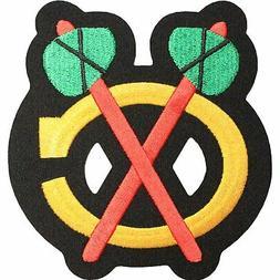 Chicago Blackhawks Shoulder Logo Emblem Road White Jersey Pa
