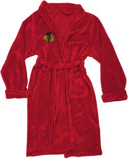 chicago blackhawks silk touch bath robe