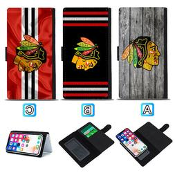 Chicago Blackhawks Sliding Flip Case For iPhone 6 6s 7 8 Plu