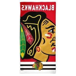 "CHICAGO BLACKHAWKS SPECTRA BEACH TOWEL 30""X60"" COTTON PLUSH"