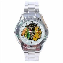 Chicago Blackhawks Stainless Steel Watches - NHL Hockey