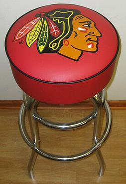 Chicago Blackhawks Stanley Cup Red Bar Stool Stools