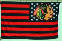 Chicago Blackhawks stars and stripes 3X5FT banner flag US Se