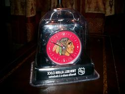 CHICAGO BLACKHAWKS TWIN BELL ALARM CLOCK NEW SEALED NHL