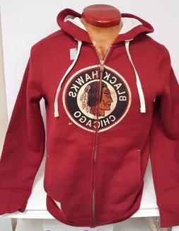 chicago blackhawks womans reebok throwback hoody full
