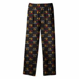 Chicago Blackhawks Youth Logo Print Pajama Pants NHL Officia