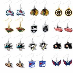 dangle earring charm NHL PICK YOUR TEAM
