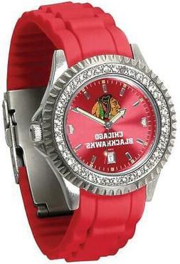 Gametime Chicago Blackhawks Ladies Sparkle Watch