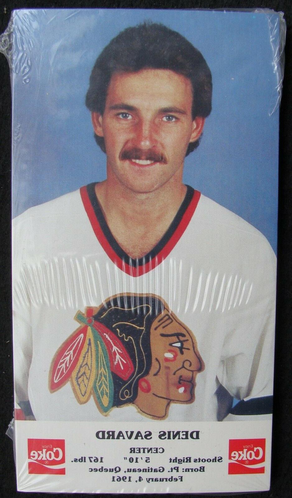 1986 87 chicago blackhawks coke postcard set