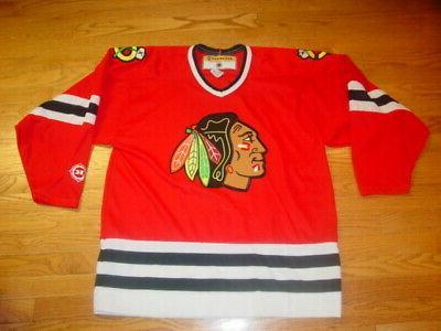 adult mens l red chicago blackhawks blank