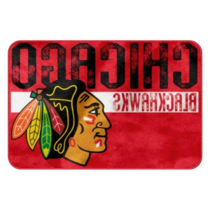chicago blackhawks foam bath mat 20 x