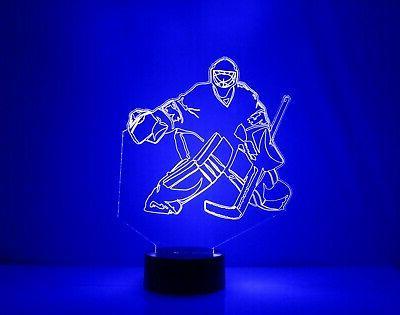 Chicago Personalized FREE Hockey LED Sports Lamp