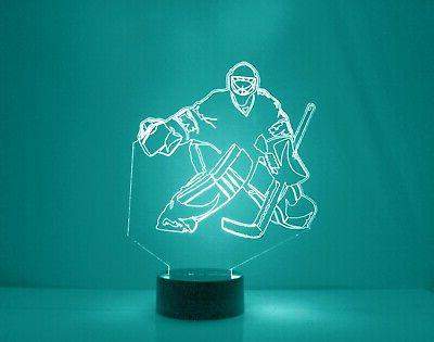 Chicago Personalized Hockey Sports Lamp