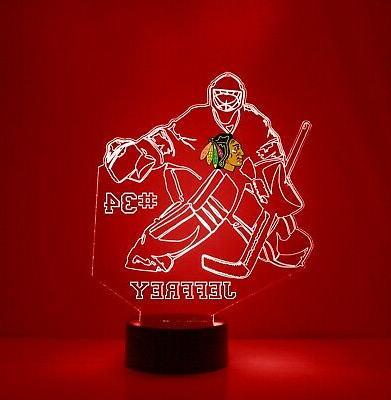 Personalized NHL Hockey LED Fan Lamp