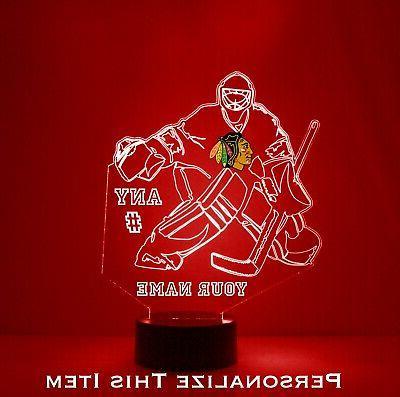 chicago blackhawks goalie personalized free nhl hockey