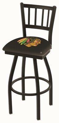 "Chicago Blackhawks HBS ""Jail"" Back High Top Swivel Bar Stool"