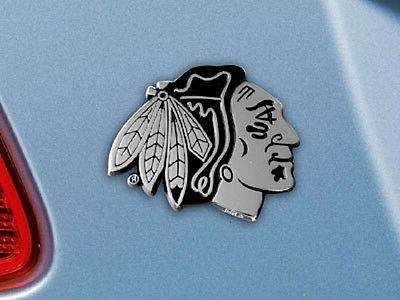 chicago blackhawks heavy metal auto emblem new