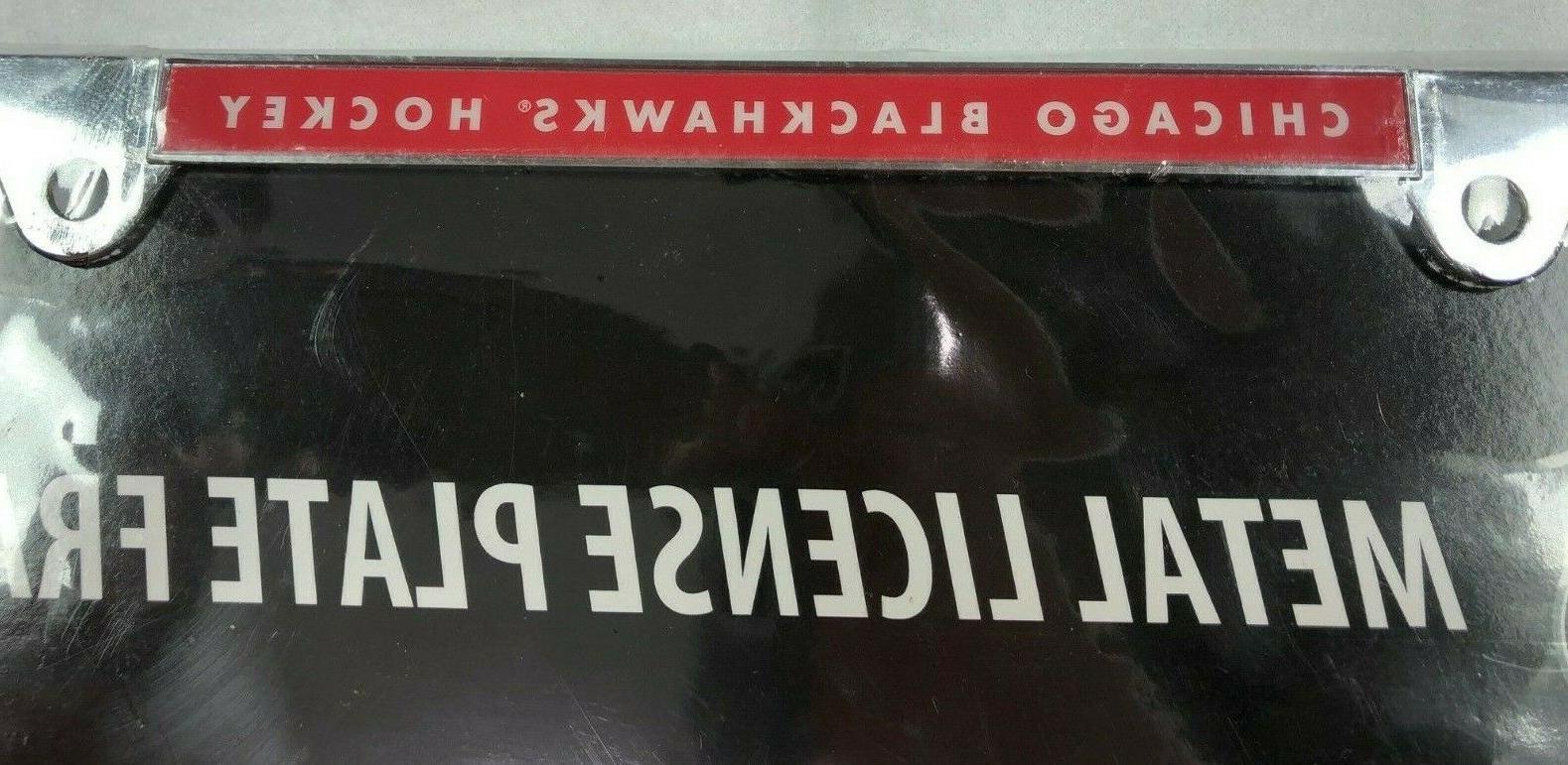 NHL BLACKHAWKS Metal License Plate Frame • Memorabilia • NIB