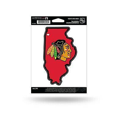 chicago blackhawks home state sticker flat die