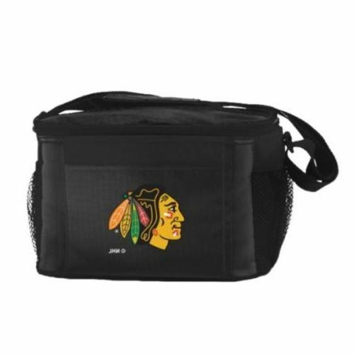 chicago blackhawks insulated 6 pack cooler lunch