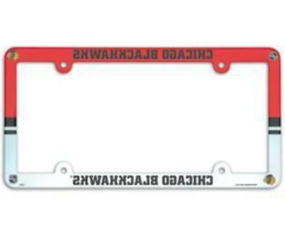 chicago blackhawks license plate frame full color