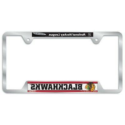 chicago blackhawks license plate frame metal