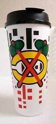 CHICAGO BLACKHAWKS MUG CUP TRAVEL TUMBLER NHL 32 OZ PLASTIC