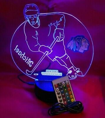 Chicago Blackhawks Player Up LED Personalized Light Remote