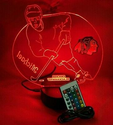 Chicago Player Light Up LED Personalized