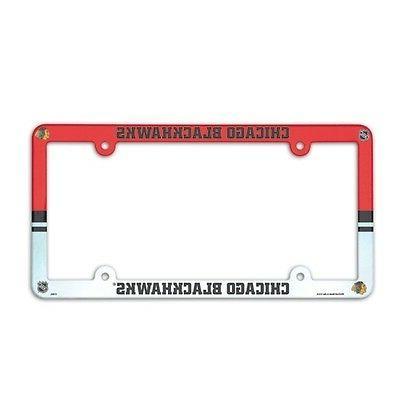 chicago blackhawks nhl license plate frame cover