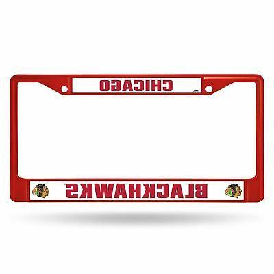 chicago blackhawks nhl licensed red painted chrome
