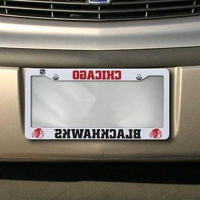 chicago blackhawks nhl plastic license plate frame