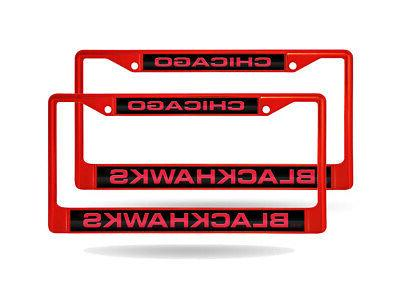 chicago blackhawks nhl set of 2 red
