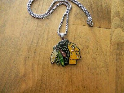 CHICAGO PENDANT FOB STEEL CHAIN NECKLACE
