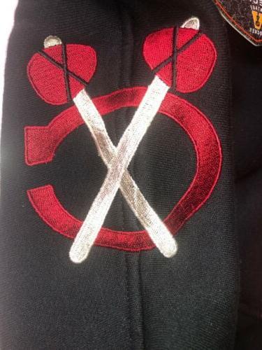 Chicago Blackhawks NHL Time Jersey Laced Sweatshirt L