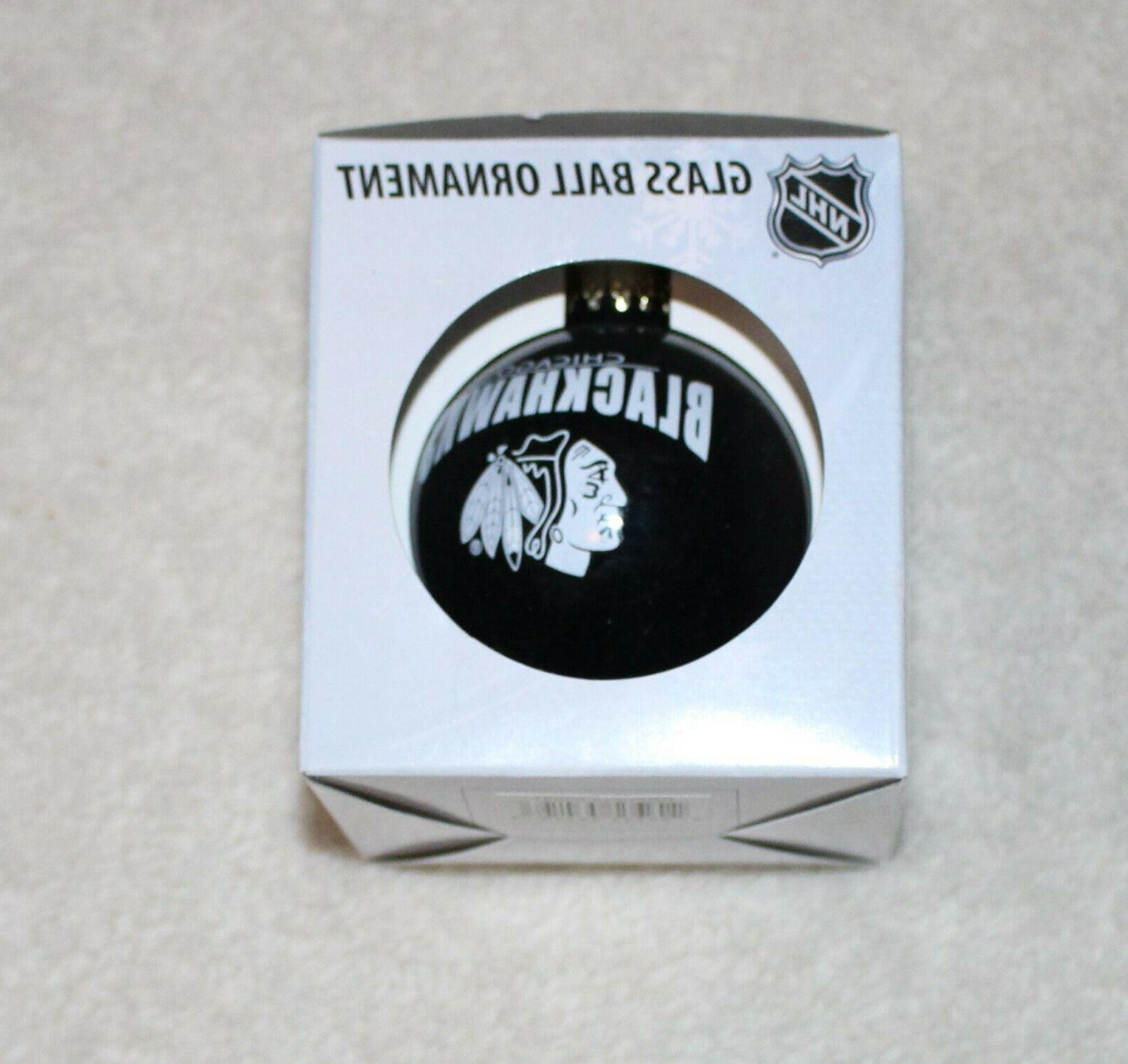 chicago blackhawks official nhl holiday ornament glass