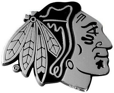 chicago blackhawks premium solid metal chrome auto
