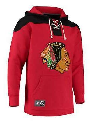 Chicago Lace Up Fleece Hoodie