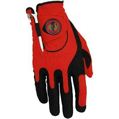 chicago blackhawks left hand golf glove