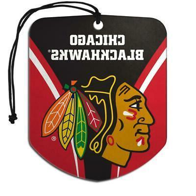 chicago blackhawks shield design air freshener 2