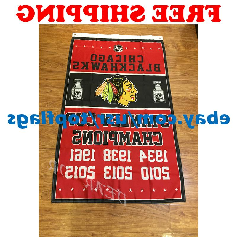 Chicago Blackhawks Stanley Cup Champions Flag Banner 3x5 ft
